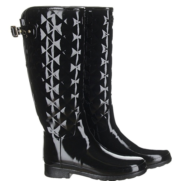 6abc991570f Hunter Shoes - Hunter Original Refined High Gloss Quilted Rain